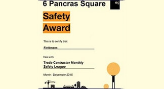 2015 - Safety Contractor of the Month and Trade Contractor Safety Monthly League Winners
